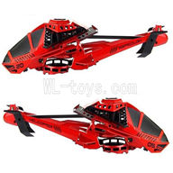 UDI U825 rc helicopter parts-01 Head cover(Red)