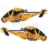 UDI U825 rc helicopter parts-02 Head cover(Yellow)