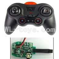 UDI U825 rc helicopter parts-16 Transmitter & Circuit board