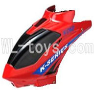 Koome model K012 RC helicopter parts,Koome K-012 parts-01 Head cover(Red)