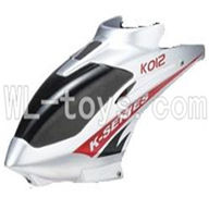 Koome model K012 RC helicopter parts,Koome K-012 parts-02 Head cover(Gray)