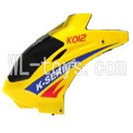 Koome K012 RC helicopter parts ,Koome model K-012 parts-03 Head cover(Yellow)