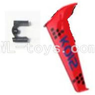 Koome model K012 RC helicopter parts ,Koome K-012 parts-26 Verticall wing with fixture(Red)