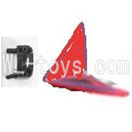 Koome model K012 RC helicopter parts ,Koome K-012 parts-31 Horizontal wing with fixture(Red)