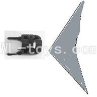 Koome model K012 RC helicopter parts ,Koome K-012 parts-32 Horizontal wing with fixture(Gray)