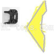 Koome model K012 RC helicopter parts ,Koome K-012 parts-33 Horizontal wing with fixture(Yellow)