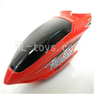 Koome model K026 RC helicopter parts, K-026 parts-01 Head cover(Red)