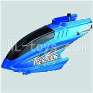Koome model K026 RC helicopter parts, K-026 parts-02 Head cover(Blue)
