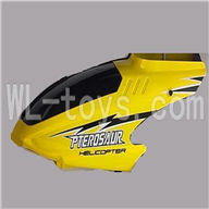 Koome model K026 RC helicopter parts, K-026 parts-03 Head cover(Yellow)