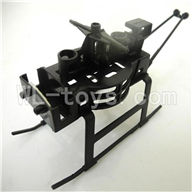 Koome model K026 RC helicopter parts, K-026 parts-05 Landing skid & main frame body & Support pipe