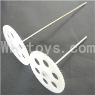 Koome model K026 RC helicopter parts, K-026 parts-06 Upper main gear with hollow pipe & Lower main gear with inner shaft
