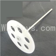 Koome model K026 RC helicopter parts, K-026 parts-07 Upper main gear with hollow pipe