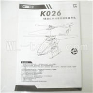 Koome model K026 RC helicopter parts, K-026 parts-34 Manual