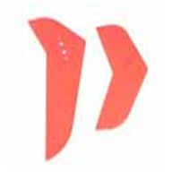 MJX F639 F39 RC Helicopter Parts-34 tail decorative fin sheet sets (Color:Blue/Red)