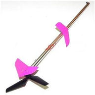 MJX T40C T640C RC helicopter parts-39 Tail unit(Long tail pipe & Horizontal and verticall wing withe fixture & Tail cover & Tail motor and Tail blade)-Pink