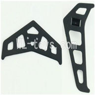 MJX T42C T642C RC helicopter parts-16 Horizontal and verticall wing