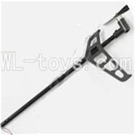 MJX T42C T642C RC helicopter parts-19 Whole tail unit A-Long tail pipe & Tail cover with tail blade and tail motor & Verticall wing