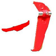 MJX T54 T654 RC helicopter parts-09 Horizontal wing + vertical wing(Red)