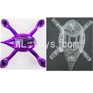WLtoys V343 Quadcopter WL toys V343 parts-05 Head cover-Upper(Purple) & Lower cover Frame