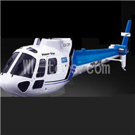 WLtoys V931 RC helicopter WL toys V931 AS350 parts-01 Front head cover & Back body cover-Blue
