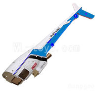 WLtoys V931 RC helicopter parts WL toys V931 AS350 parts-04 Back body cover-Blue