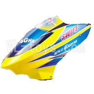 DFD F162 RC helicopter Parts-04 Head cover-Yellow-version-2