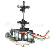 DFD F162 RC helicopter Parts-33 Body unit(Main body frame & 2x Main motor & Upper main gear with hollow pipe and lower main gear & Upper and lower main grip set )