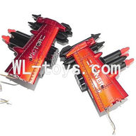 DFD F187 RC helicopter Parts-37 Whole side wing unit-Red(2x Side wing & 4x Fixtures & Bullets + Bomber set (Left + Right)