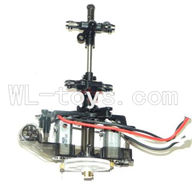 DFD F187 RC helicopter Parts-46 Body unit(Main body frame & 2x Main motor & Upper main gear with hollow pipe and lower main gear & Upper and lower main grip set )