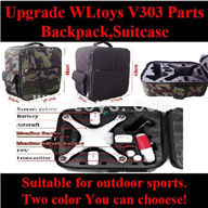 Wltoys V303 Quadcopter parts ,Upgrade WL toys V303 Parts-Backpack,Suitcase wholesale