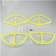 Wltoys V303 Quadcopter parts ,Upgrade Wl toys V303 Parts unit 1 wholesale-Yellow