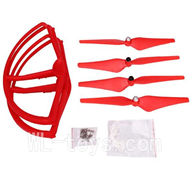 Wltoys V303 Quadcopter parts ,Upgrade Wl toys V303 Parts unit 2 wholesale-Red