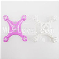 SanLianHuan SH CX-10 Quadcopter parts-03 Upper head cover & Lower frame cover-Purple