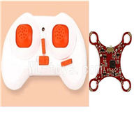 SanLianHuan CX-10 Quadcopter parts ,SH CX-10 parts-12 Transmitter& Circuit board-Red