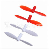 SanLianHuan CX-10 Quadcopter parts ,SH CX-10 parts-27 Upgrade-Blades(2x Red & 2x White)