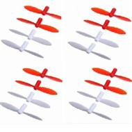SanLianHuan CX-10 Quadcopter parts ,Upgrade SH CX-10 Rotor blades wholesale (Total 16pcs ,include 8x Red blades & 8x White blades)