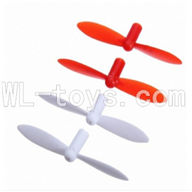 SanLianHuan CX-11 Quadcopter parts, SH CX-11 parts-12 Upgrade Blades(2x Red & 2x White)