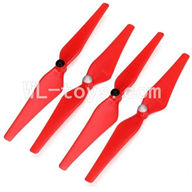 Cheerson CX-20 Parts-09 Main rotor blades(2x Clockwise rotating & 2x Counterclockwise rotation)-Red,Cheerson CX-20 RC Drone Quadcopter Spare parts,CX-20 Aircraft accessories