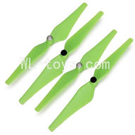 SH CX-20 RC Quadcopter SanLianHuan CX-20 Parts-10 Main rotor blades(2x Clockwise rotating & 2x Counterclockwise rotation)-Green
