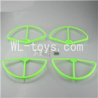 SH CX-20 RC Quadcopter SanLianHuan CX-20 Parts-17 Upgrade Fan-Shape Protection frame(4pcs)-Green & Protect line & 10x Screws