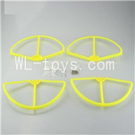 SH CX-20 RC Quadcopter SanLianHuan CX-20 Parts-18 Upgrade Fan-Shape Protection frame(4pcs)-Yellow & Protect line & 10x Screws