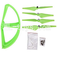 Cheerson CX-20 Parts-21 Upgrade Fan-Shape Protection frame(4pcs)-Green & Protect line & 10x Screws & 4X Green Blades,Cheerson CX-20 RC Drone Quadcopter Spare parts,CX-20 Aircraft accessories