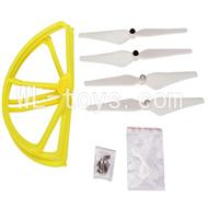 SH CX-20 RC Quadcopter SanLianHuan CX-20 Parts-22 Upgrade Fan-Shape Protection frame(4pcs)-Yellow & Protect line & 10x Screws & 4X White Blades