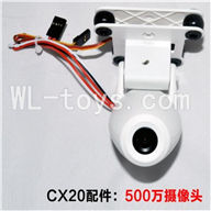 SH CX-20 Quadcopter Parts ,SanLianHuan CX-20 Parts-27 Camera unit with 5,000,000 Pixels ,1280x720 Resolution and High-speed 720P 60fps