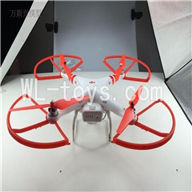 SH CX-20 Quadcopter Parts ,SanLianHuan CX-20 Parts-47 Upgrade BNF(Only Quadcopter,No battery,No transmitter,No charger,No Camera,NO PTZ)-Red frame and Red blades