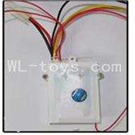 Double Horse 7007 Boat Parts ,DH 7007 Parts-07 Receiver box with circuit board Frequency (27MHZ,40MHZ,49MHZ)