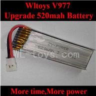 Upgrade WLtoys V977 RC Helicopter parts-3.7V 520mah Battery WL toys V977 25C Li-Poli Battery