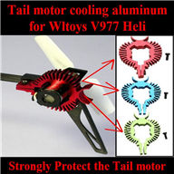 Upgrade WLtoys V977 RC Helicopter parts, WL toys V977 Tail motor cooling aluminum