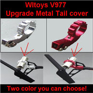 WLtoys V977 RC Helicopter parts, WL toys V977 Upgrade Metal Tail cover,Upgrade Brushless parts