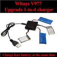 WLtoys V977 RC Helicopter Balance charger, WL toys V977 Upgrade 1-to-4 charger wholesale